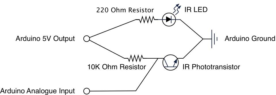 radioshack ir emitter detector distance sensors arduino calibration rh victorfang wordpress com Infrared Emitter for Cooking Grate Far Infrared Emitters